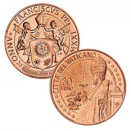 "2021 * 20 Euro Copper VATICAN ""Art and Faith: St. Peter's Basilica"" UNC"