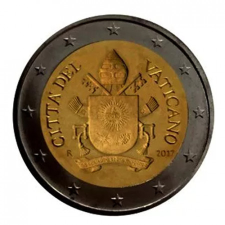"""2018 * 2 Euro VATICAN """"Coat of Arms of Pope Francis"""" Year V BU"""
