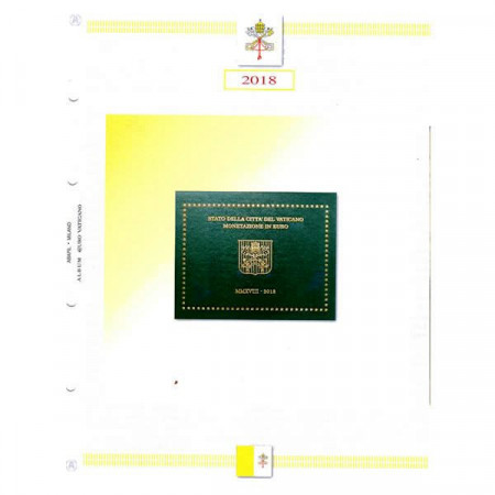 """2018 Sheet + Pochet Vatican Coinset """"Coat of Arms of Pope Francis"""" * ABAFIL"""