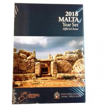 """2018 * MALTA Official Euro Coin Set """"Temple de Mnajdra"""" BU"""