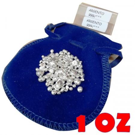 Investment * Pure Silver Balls 0.999 1 OZ in Velvet Bag