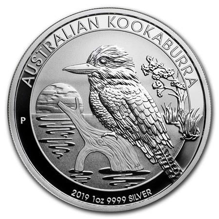 "2019 * 1 Dollar Silver 1 OZ Australia ""Kookaburra"" BU"