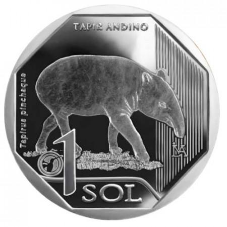 """2018 * 1 Sol Peru """"Mountain Tapir"""" UNC"""