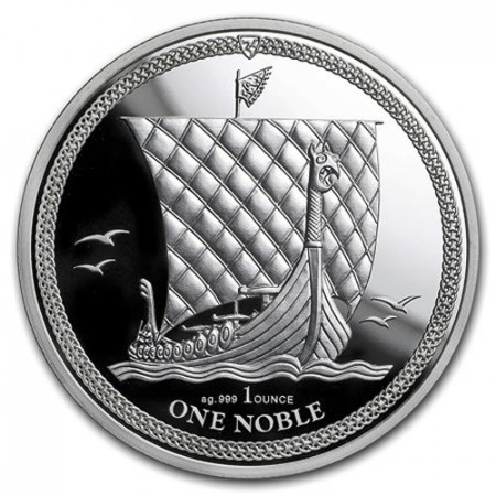 "2018 * 1 Noble Silver 1 OZ Isle of Man ""Viking Heritage"" BU"