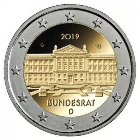"""2019 * 2 Euro GERMANY 70 Years of the Federal Council"""" UNC"""