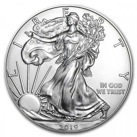 "2019 * 1 Dollar Silver 1 OZ United States ""Liberty - Silver Eagle"" UNC"