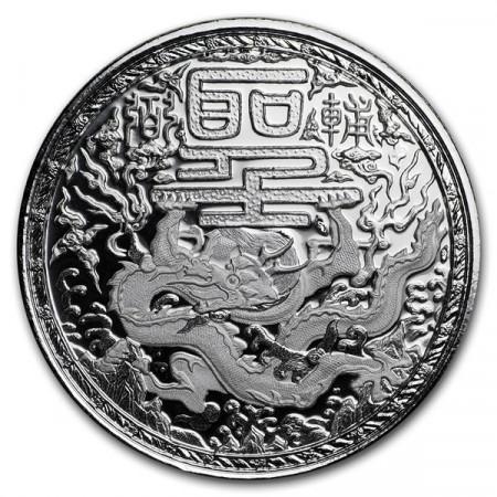 """2018 * 500 Francs 1 OZ Cameroon """"Imperial Dragon"""" BU"""