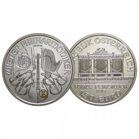 "2015 * 1,50 Euro 1 OZ Ounce Austria ""Philharmonic - W16 Edition"" BU"
