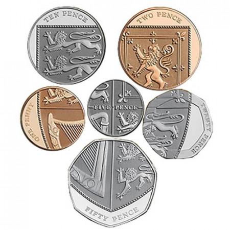"2019 * Set 6 Coins Great Britain ""Shield"" BU"
