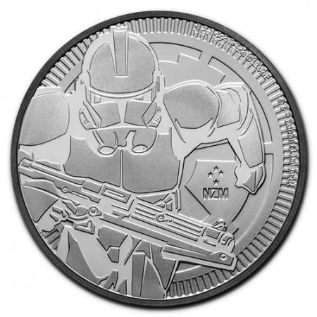 "2019 * 2 Dollars Silver 1 OZ Niue - New Zealand ""Star Wars - Clone Trooper"" BU"