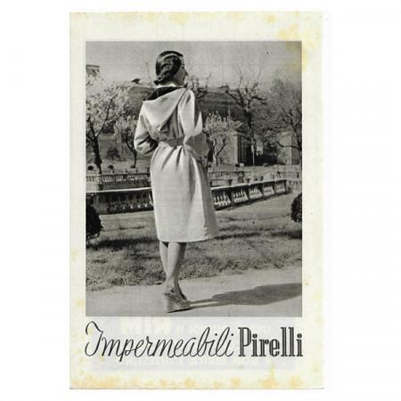 "1941 * Advertising Original Raincoat PIRELLI ""Impermeabili"" White/Black"