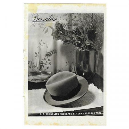 "1941 * Advertising Original Hats BORSALINO ""Alessandria"" White/Black"