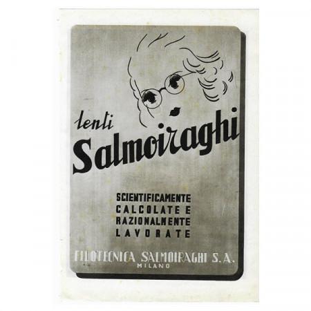 "1942 * Advertising Original Optical Lens SALMOIRAGHI ""Scientificamente Calcolate"" White/Black"
