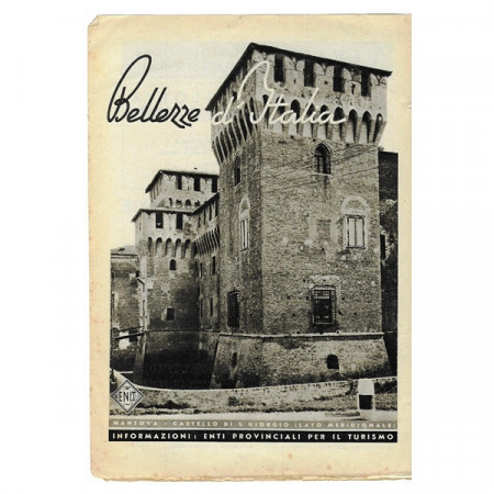 "1943 * Advertising Original Tourism ""Bellezze d'Italia - MANTOVA"" White/Black"