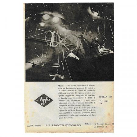 "1942 * Advertising Original Photography ""AGFA Foto - Circus"" White/Black"