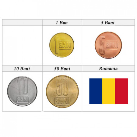 Mixed Years * Series 4 Coins Romania