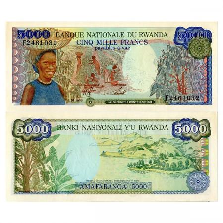 1988 * Banknote Rwanda 5000 Francs (p22) UNC