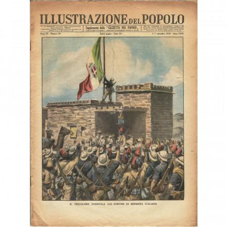 """1940 * Original Historical Magazine """"Illustrazione del Popolo (N°36) - Tricolore Sui Fortini di Berbera Italiana"""""""