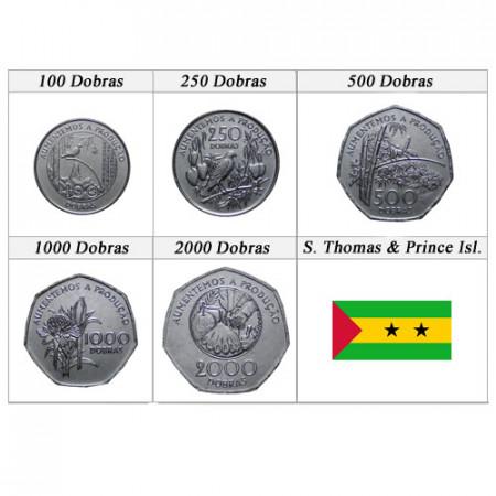 Mixed Years * Series 5 coins São Tomé and Príncipe