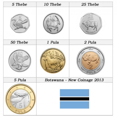 2013 * Series 7 coins Botswana