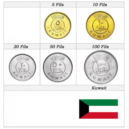 Mixed Years * Series 5 coins Kuwait