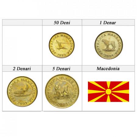 Mixed Years * Series 4 coins Macedonia