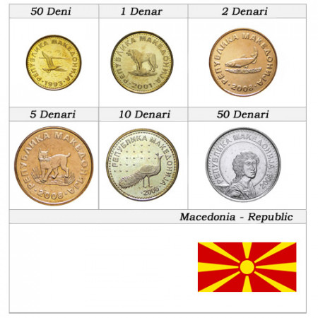 Mixed Years * Series 6 coins Macedonia