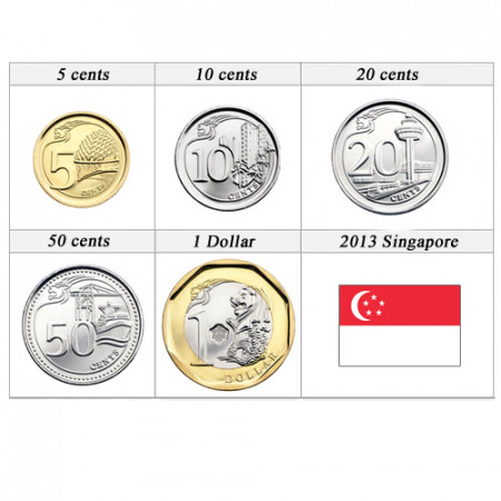 2013 * Series 5 coins Singapore