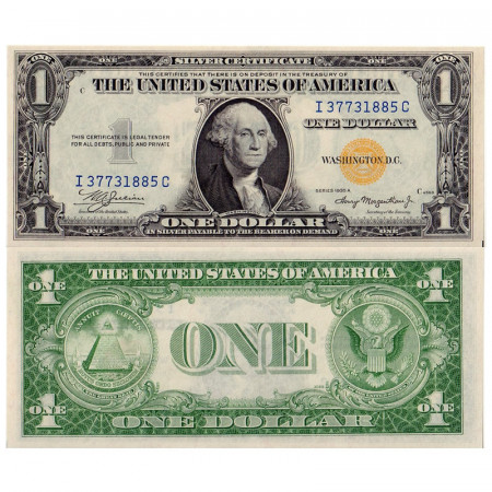 """1935 A * Banknote United States 1 Dollar North Africa """"Yellow Seal"""" UNC-"""