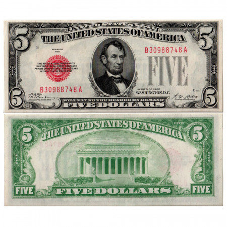 1928 * Banknote United States 5 dollars UNC-