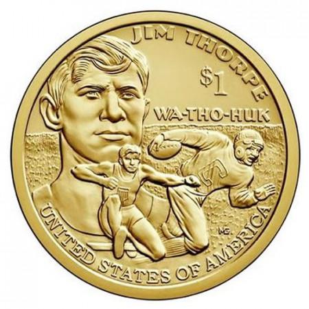 "2018 * 1 Dollar United States ""Jim Thorpe"" UNC"