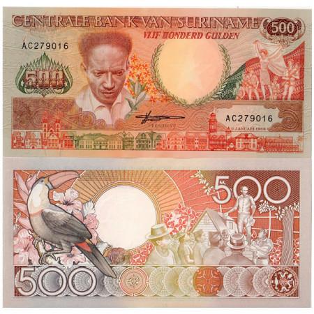 1988 * Banknote Suriname 500 Gulden (p135b) UNC