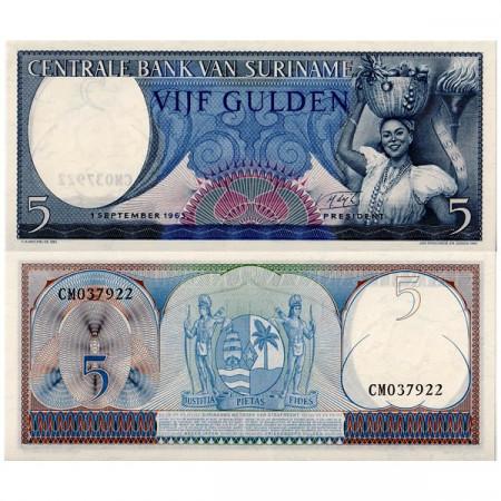1963 * Banknote Suriname 5 Gulden (p120) UNC