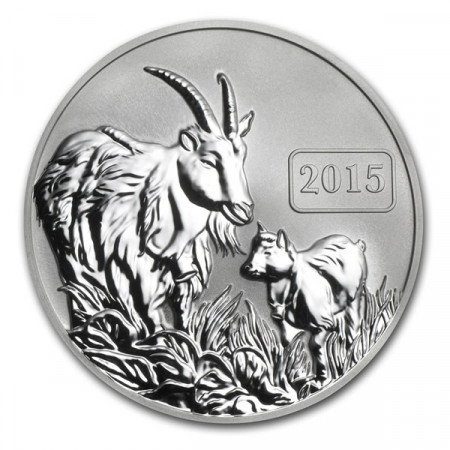 2015 * 5 Silver dollars 1 OZ Tokelau Year of the Goat