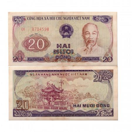 "1985 (1986) * Banknote Vietnam 20 Dong ""Ho Chi Minh"" (p94a) aUNC"
