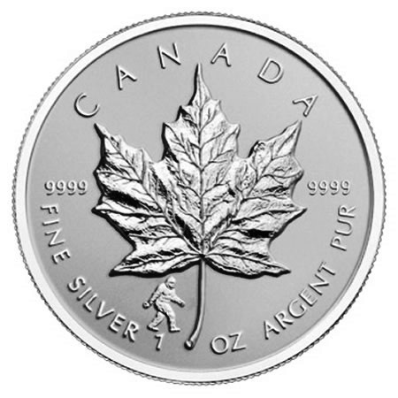 "2016 * 5 Dollars Silver 1 OZ Maple Leaf Canada ""Bigfoot"" Privy Mark"