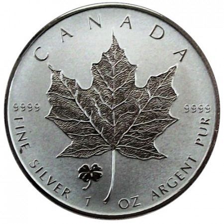 "2016 * 5 Dollars Silver 1 OZ Maple Leaf Canada ""Four-Leaf"" Privy Mark"