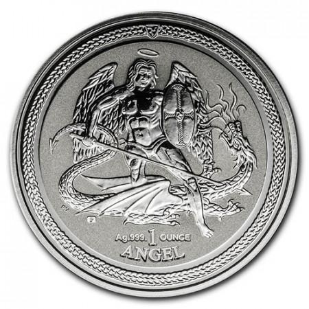 "2016 * 1 Ounce Silver 1 OZ Isle of Man ""Saint Michael the Archangel"" BU"
