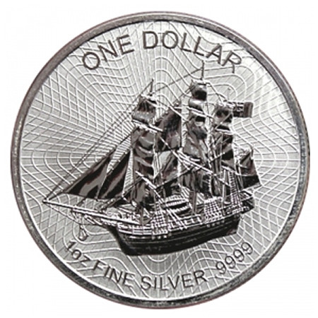 "2017 * 1 Dollar Silver 1 OZ Cook Islands ""Bounty - New Design"" BU"