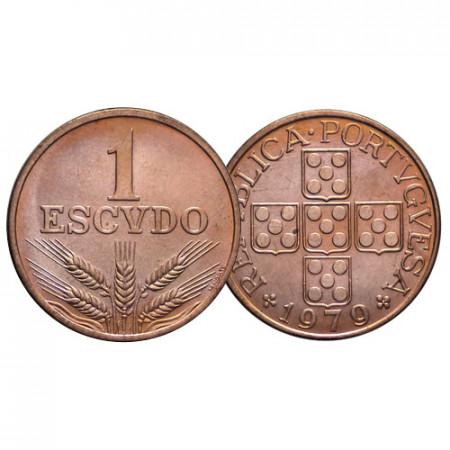 """1979 * 1 Escudo Portugal """"Value"""" (KM 597) UNC"""