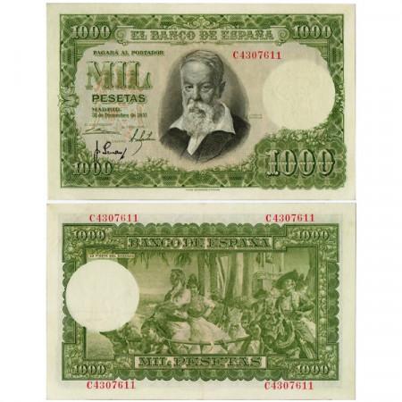 """1951 (1953) * Banknote Spain 1000 Pesetas """"Joaquín Sorolla"""" (p143a) XF+"""