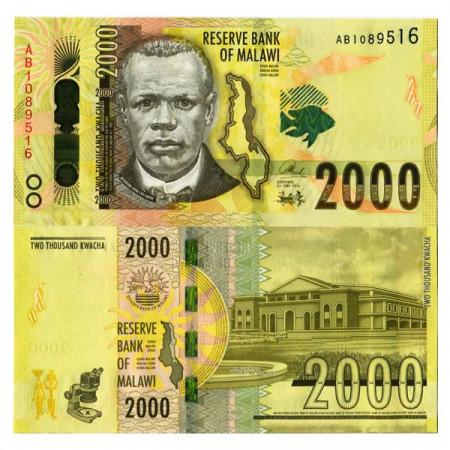 """2016 * Banknote Malawi 2000 Kwacha """"Reverend John Chilembwe"""" (pNew) UNC"""