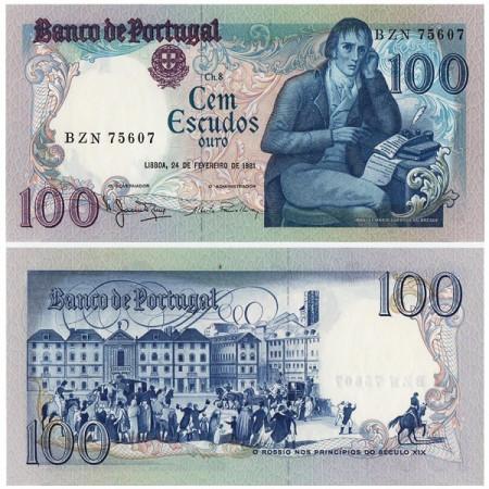 "1981 * Banknote Portugal 100 Escudos ""MM Barbosa du Bocage"" (p178b) UNC"