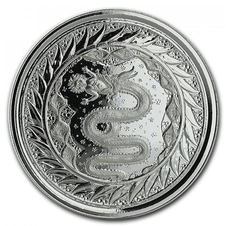 "2020 * 2 Tala Silver 1 OZ Samoa ""Serpent of Milan"" BU"