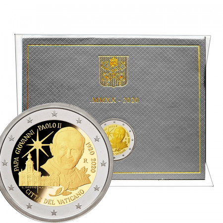 """2020 * 2 Euro VATICAN """"Centenary Birth of Saint John Paul II"""" BU"""