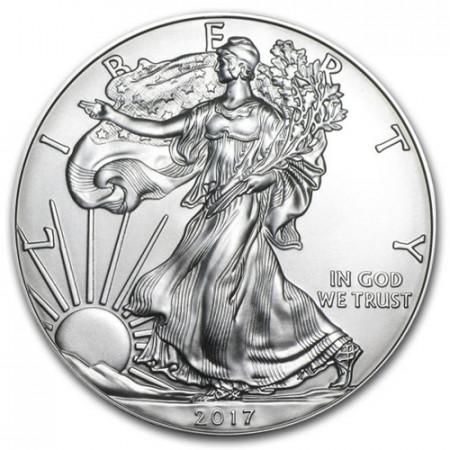 "2017 * 1 Dollar Silver 1 OZ United States ""Liberty - Silver Eagle"" UNC"
