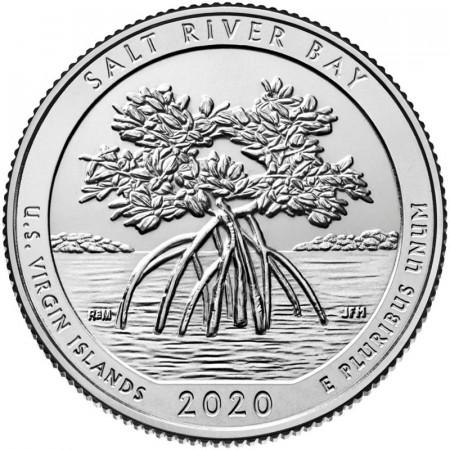"""2020 * Quarter Dollar (25 Cents) United States """"National Park - Salt River Bay, Virgin Islands"""" UNC"""