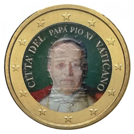 """ND (2019) * 50 Cents VATICAN """"Pope Pius XI"""" Colored"""
