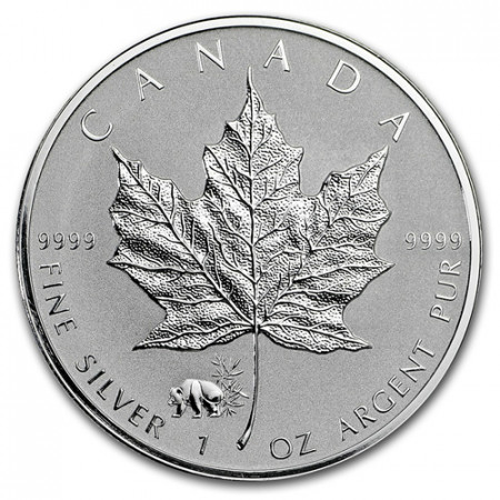 "2017 * 5 Dollars Silver 1 OZ Maple Leaf Canada ""Panda"" Privy Mark"