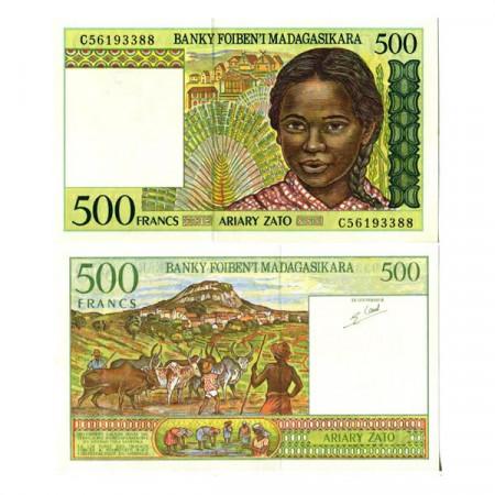 "ND (1994) * Banknote Madagascar 500 Francs = 100 Ariary ""Herdsmen"" (75b) UNC"